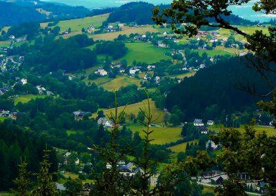 Ansicht Rittersgrün vom Taubenfelsen